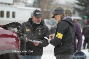 Chris Adkins Confers With Vets
