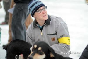 Vet Team Checking Dog